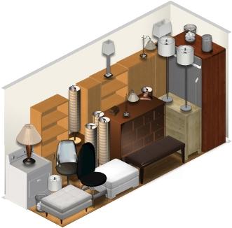 5x15 stockage unit